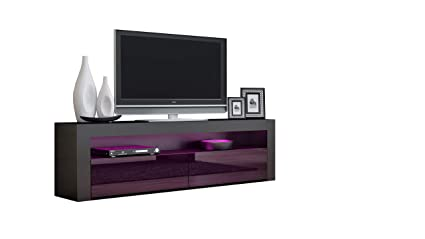 Amazon Com Tv Console Milano Classic Black Tv Stand Up To 70 Inch