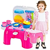 Toys Bhoomi 2 In 1 Carry-On Kitchen Play Set Chair With Lights & Sounds For Your Little Princess