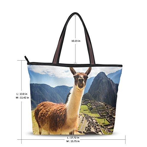Grand À Alaza Main Machu Sac Lama Fourre Picchu D'épaule tout 7BA7zx1