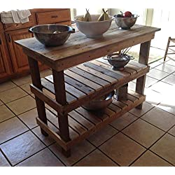 Rustic Kitchen Island, Free Shipping