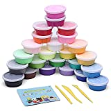 diy play dough - Becheapy Air Dry Clay Gifts for Kids, Portable 24 Colorful Ultra Light Molding Magic Non-Toxic Clay & Dough, Creative Art DIY Crafts