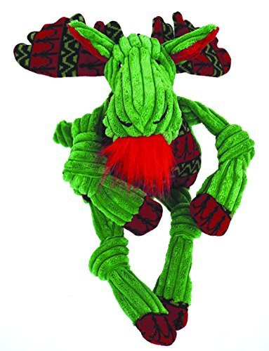 Hugglehounds Corduroy Holiday Green Moose w/Sweater Knottie (Large)