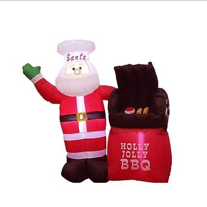 Amazon.com: Hobbbms - Barbacoa hinchable de Papá Noel y ...