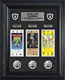 NFL Oakland Raiders Super Bowl Ticket & Game Coin Collection Framed, Silver, 32'' x 27'' x 4''