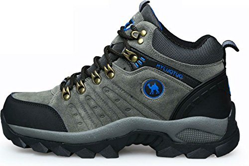 3C Camel HUAYU 5696 Mens Walking Hiking Trail Waterproof Ventilated Mid High-cut Gray Boots