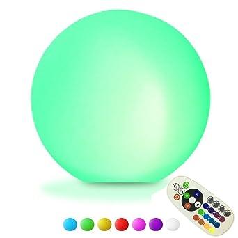 dinowin Mode Night Étanche Et Lampe16 Boule Sans Flottante Télécommande Led Lumineuse Fil Sphère Globe Rechargeable Pour Pool Light PkZwOXiTu