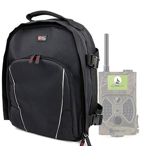 Sac à dos noir résistant à l'eau pour SUNLUXY Caméra de Chasse Surveillance  Vidéo avec Ecran LCD 2,0