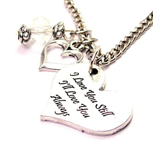 A Friend Today ChubbyChicoCharms A Little Girl Yesterday My Daughter Forever Heart And Crystal 18 Necklace
