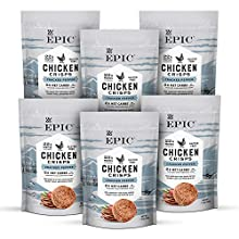 Epic Cracked Pepper Chicken Crisps, Keto Friendly, 1.5 oz each, 6 ct, 6 count (pack of 1)