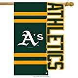 Team Sports America Applique Oakland A's Sculpted House Flag, 29 x 44 inches