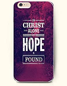 OOFIT Authentic Cases for iPhone 6 (4.7inch) - Hard Back Plastic Case /Merry Christmas Xmas / In Christ Alone My Hope is Found