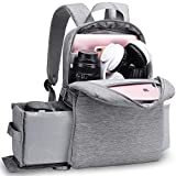 CADEN DSLR Camera Backpack Bag with Laptop Compartment 14', Camera Case Backpack Waterproof with Side Access and Tripod Holder for Photographers, Mirrorless Cameras Canon Nikon Sony Pentax Lens etc
