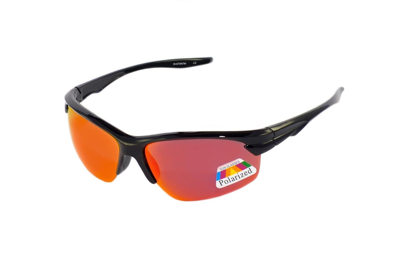 Rainbow Kinder Sonnenbrille Cobra für Jungen und Mädchen 8+ Kinder Sportbrille / Polarisiert / 3302 (Black/Ice Mirror) CdBSlR1YL