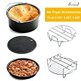 Air Fryer Accessories for GoWISE Phillips Cozyna and More Brand Airfryer, Universal Air Fryer Accessories Kit Fit all 3.7QT-5.3QT-5.8QT