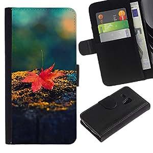 All Phone Most Case / Oferta Especial Cáscara Funda de cuero Monedero Cubierta de proteccion Caso / Wallet Case for Samsung Galaxy S3 MINI 8190 // Red Maple Leaf