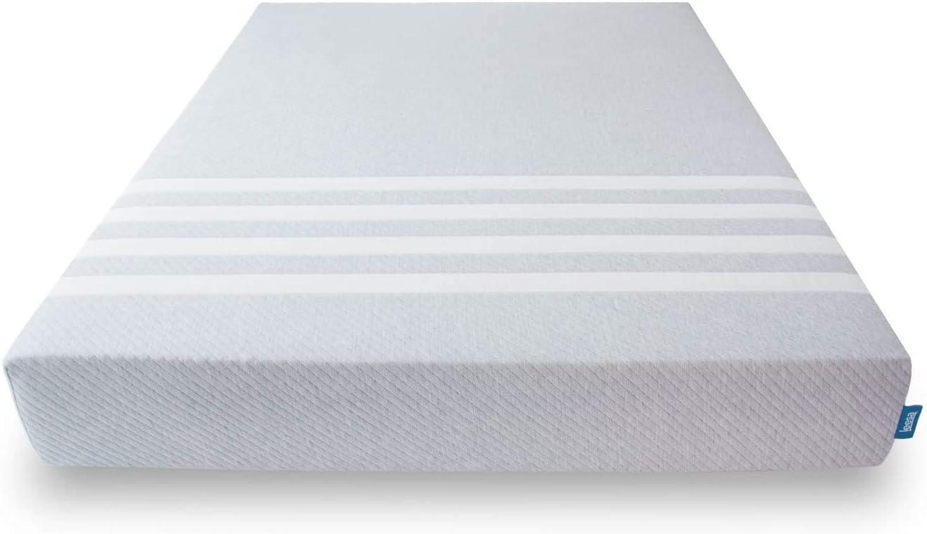 Leesa Original Bed-in-a-Box, Three Premium Foam Layers Mattress, Twin, Gray & White