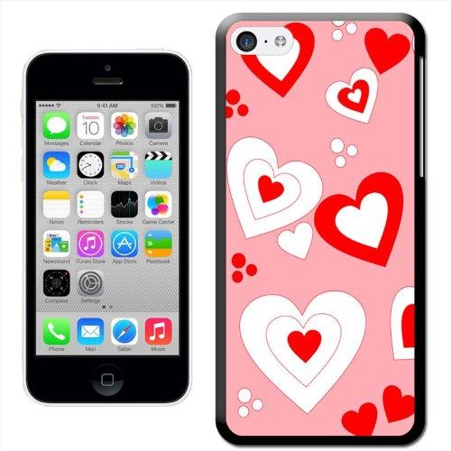 Fancy A Snuggle Coque rigide à clipser motif cœurs Rouge/blanc 'Floating Coque arrière rigide à clipser pour Apple iPhone 5C