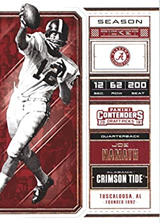 5d2910fbe 2018 Panini Contenders Draft Picks Season Ticket  52 Joe Namath Alabama  Crimson Tide Football Card