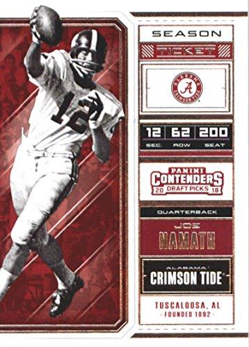 Amazon.com  2018 Panini Contenders Draft Picks Season Ticket  52 Joe Namath  Alabama Crimson Tide Football Card  Collectibles   Fine Art 269304fb8