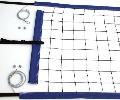 Home Court Pnc Volleyball Top Bottom Power Net Aircraft Cable  Blue