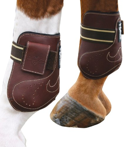 Professionals Choice Equine Ventech Leather Open Front Ankle Boot, Pair (Large, Chocolate Brown) Professionals Choice Leather Protection