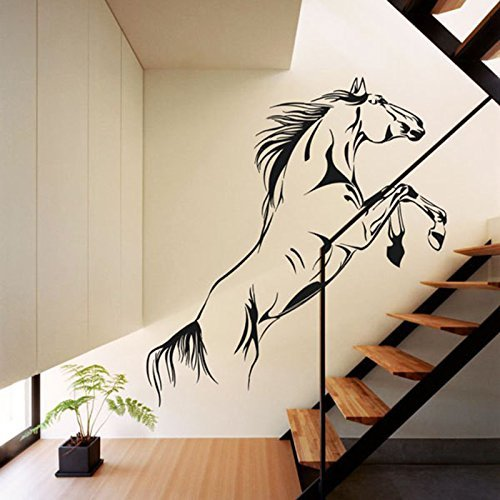 Running Horse The stairs Aisle TV Wall Background Home Decoration Living Room Removable Decoration Decal Wall Sticker Boy Kids Room Wall Decor by ZSL EXPSFD012484