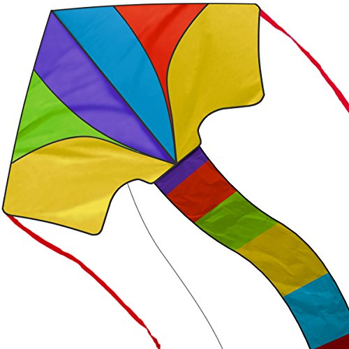 Chipmunkk Delta Kite Kids Adults Girls Boys Beach Outdoors Cool Large Flying Kites Rainbow Colors Kit Tail String Simple to Assemble Ready to Fly Toys Newest Summer Edition