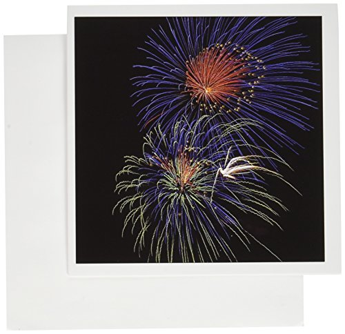 3dRose USA, Colorado, Dillon Res, Fireworks, July 4th - Greeting Cards, 6 x 6