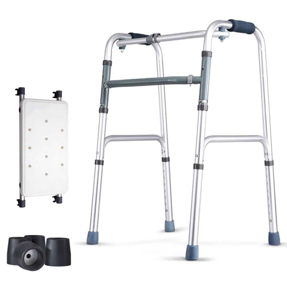 QFFL ウォーキングスティック4フィート折りたたみウォーキングウォーラー使用不可能な高齢者スツール松葉杖4色使用可能 松葉杖ウォーカー ( 色 : C ) B07B3Q767R C C