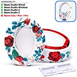 Beats Replacement Ear Pads - Beats Studio Over-Ear (Does not fit Beats Solo) | White Floral