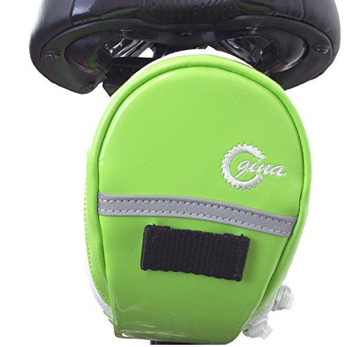LTG Fahrrad-Satteltasche, Fahrradtasche Handytasche, Gina Outdoor Bicycle Waterproof, Seat Bag, Bike Saddle Bag (Grün)