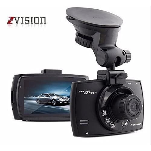 """ZVision Full HD 1080P 2.4"""" LCD Car Bus Truck DVR with Memory Card Slot Recording Night Vision Camcorder"""