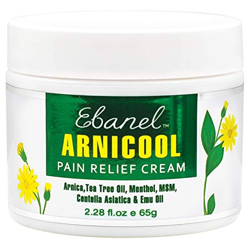 Ebanel Arnicool Back Pain Relief Arnica Cream, 100% Organic Topical Emu Medicine Cream with 4% Menthol Cooling, for Arthritis Joint Neck Foot Shoulder Pain, All Natural Ingredients (2.28 Fl.Oz / 65g)