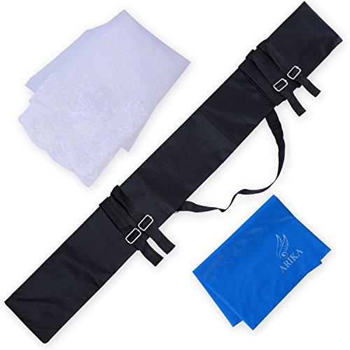 (アリカ)ARIKA 刀 の 袋 コス コスプレ 武器 用品 ケース キャリーケース とうけん (黒・ベール付)