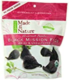Made In Nature Organic Black Mission Figs, Sun-Dried and Unsulfured, 8-Ounce Bags (Pack of 6)