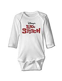 Logo Lilo And Stitch Baby Long Sleeve Bodysuits
