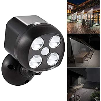 4led Owl Type Projection Spotlight Battery Powered Wall