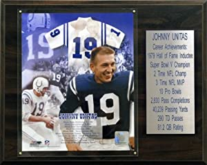 NFL Johnny Unitas Baltimore Colts Career Stat Plaque