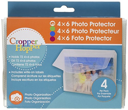 Advantus Cropper Hopper Photo/Negative Organizer 4-Pack, Frost 4-Inch-by-6-Inch - Pack Cropper Hopper