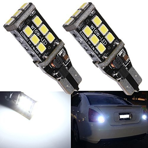 2pcs 800 lumens Extremely Bright Error Free 921 912 T10 T15 PX Chipsets LED Bulbs For Backup Reverse Lights, Xenon White