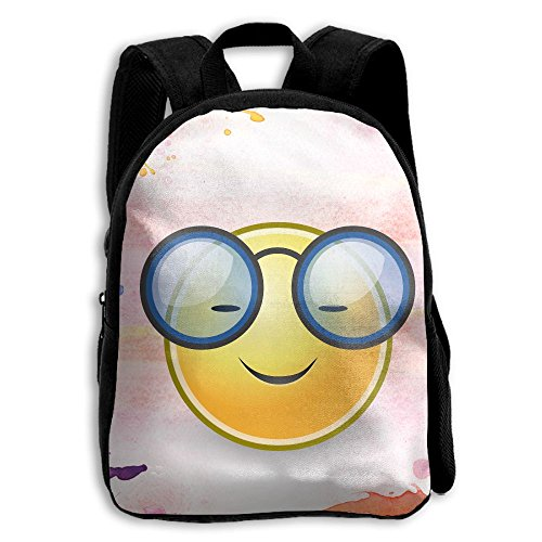 Smiling Face With Sunglasses Cool Kids Backpacks Double Shoulder Print School Bag Travel Gear Daypack - Sunglasses Smiling With Face
