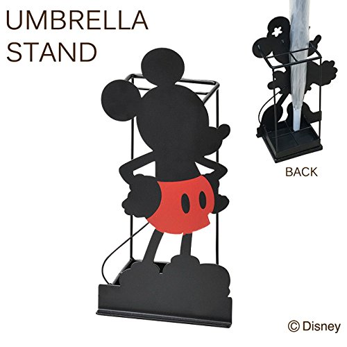 傘立て かさ立て ディズニー シルエット4本傘立て ミッキー コンパクト B07CGCKR5V