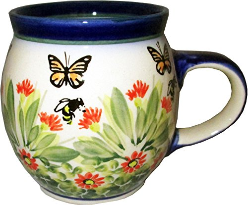 Polish Pottery Bubble Mug / Tea cup 16 oz, Eva's Collection