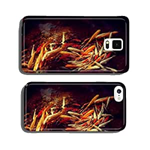 Chinese carp in clear water with leaves of water lilies cell phone cover case Samsung S5