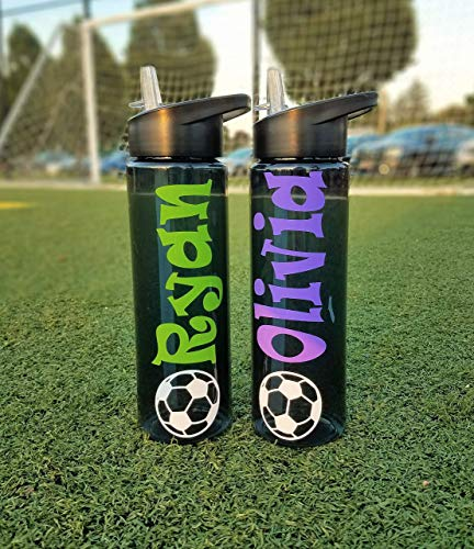 Personalized Plastic Water Bottle, Soccer Team Gifts, Soccer Coach Gift, Soccer Team Water Bottles, Soccer Banquet, Personalized Coaches Water Bottle, Sports Bottles, Personalized Bottle With -