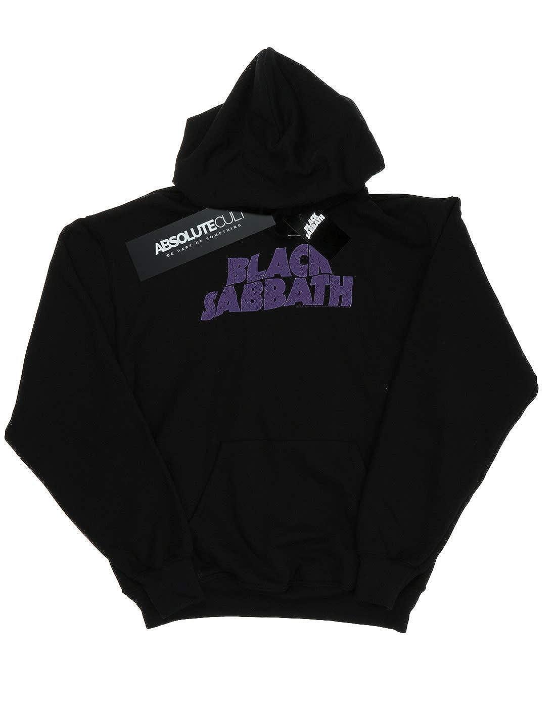 Absolute Cult Black Sabbath Mens Distressed Logo Hoodie