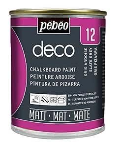 Pebeo - Pintura de Pizarra (250 ml), Color Gris Oscuro
