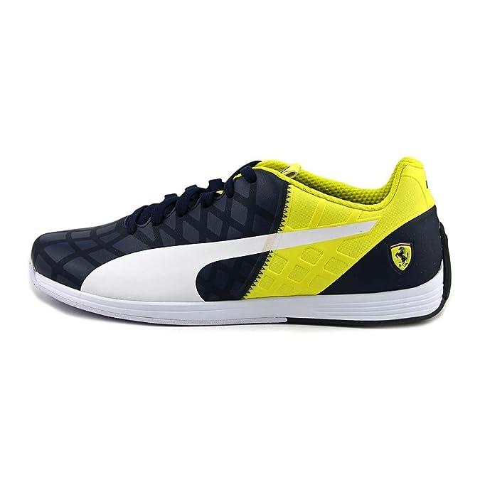 c7c1771216fba PUMA Evospeed 1.4 Scuderia Ferrari Fashion Sneaker Shoe - Dress  Blues/White/Vibrant Yellow - Mens - 12