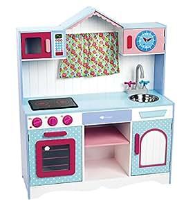Itsimagical provence window kitchen cocinita de juguete de madera con sonidos imaginarium - Cocinita de madera imaginarium ...