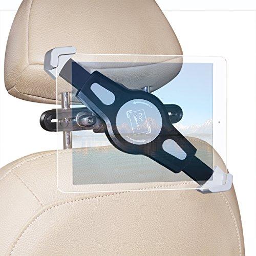 Car Backseat Tablet Mount Holder, Megadrem Universal 360 Degree Rotation Swivel Headrest ABS Bracket Bundle for 7 to 11 inch Tablet PC iPad Asus Samsung Lenovo Dell Acer HP LG Toshiba Google Nexus
